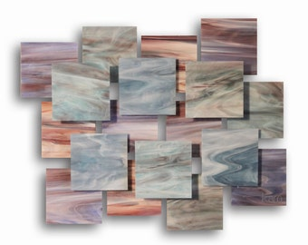 """Glass and Metal Wall Sculpture """"Impressions"""""""