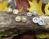 YOU CHOOSE caliber and color! Bullet Earrings with stainless steel backs.