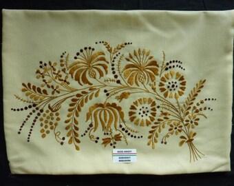 Traditional old kalocsa hungarian pillow case
