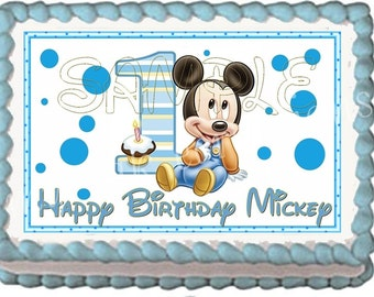 Baby Mickey Mouse Cake Topper Decoration