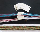 Card Weaving Kit - Ready to weave. The hard part is done for you. Weave a long band in no time.