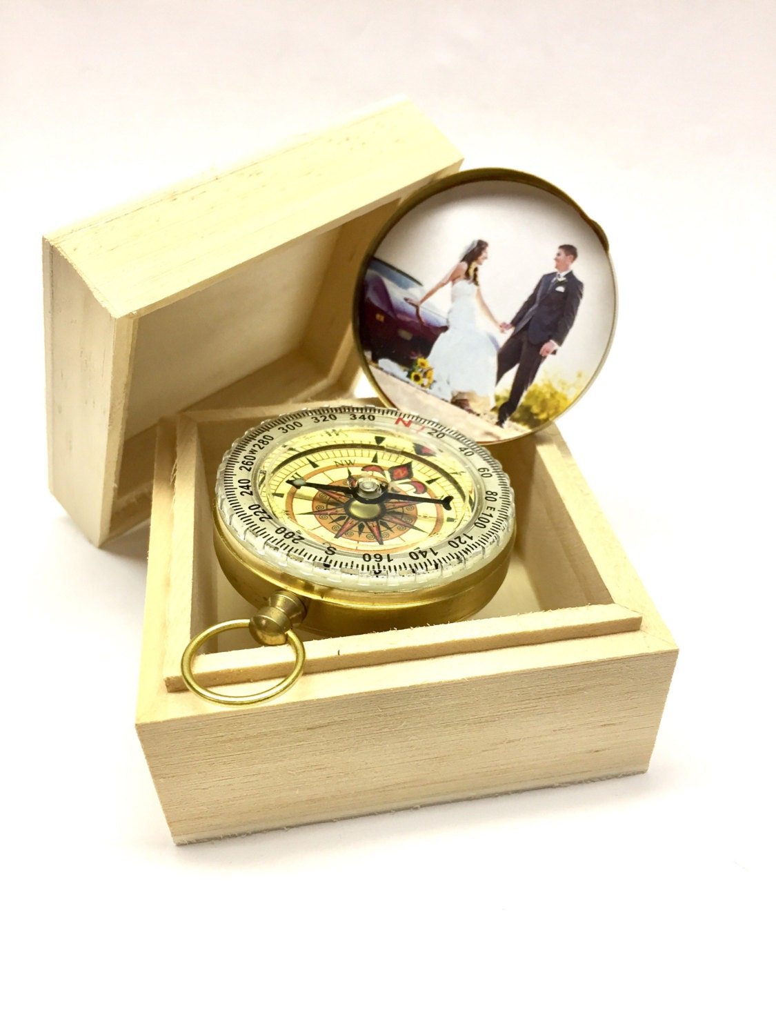 CUSTOM Engraved Compass Personalized Engraved Compass. Front