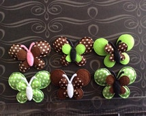 SET of 6 Unique Butterfly Padded Appliques