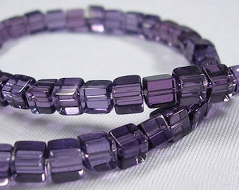 1 wire cubic crystal violet transparent 75 ~ 78pcs / wire