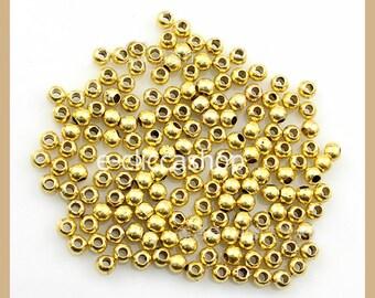 Beaded gold metal 200 pcs 4mm