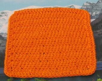 0351 Hand crochet dish cloth 8 by 7