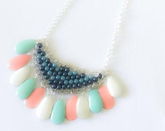 Pastel sequins beads necklace