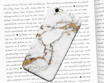 Gold Marble, phone case, cover, white marble, stone, iPhone, 6, 6S, 6 Plus 5, 5S, 7, 7 Plus Samsung Galaxy S5, S6