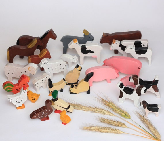 Painted Farm Animal Set
