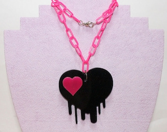Dripping Heart Necklace