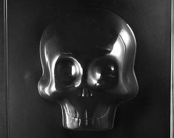 Large 3D Skull (Front) Chocolate Mold - H166A