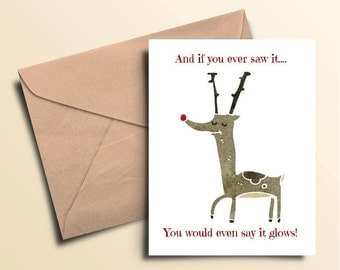 Red Nose Reindeer Seasonal Cards