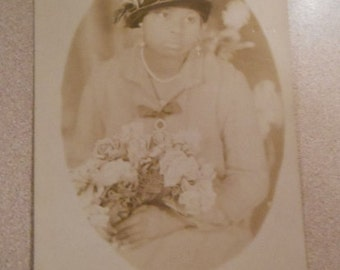 Original Photo Vintage Photo African American Woman Named