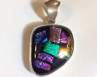 Sterling Silver Dichroic Glass Pendant