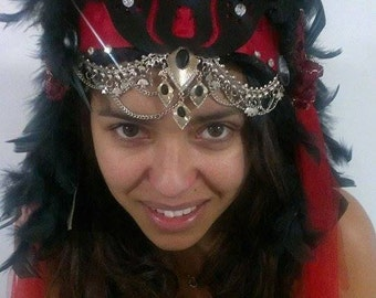 Moulin Rouge themed headdress