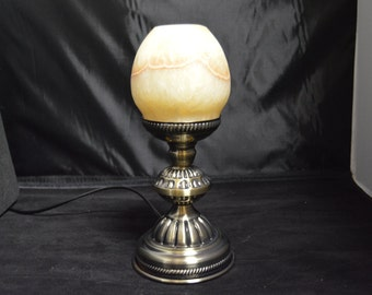 Egyptian Alabaster Table Lamp   The beauty  of light through ALABASTER is centuries old !! A VALUE that is incredibly overlooked !!
