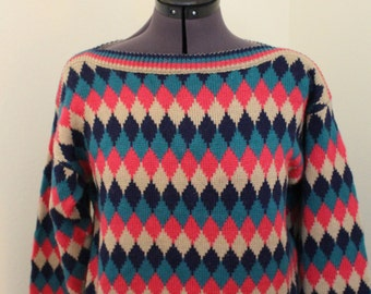 Bortina Women's long sleeved sweater size M 1980s