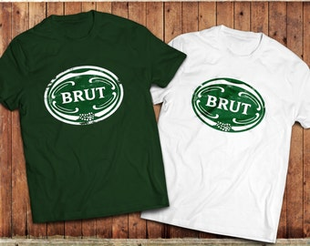 Retro Brut Aftershave T-Shirt, 80's, 70's Vintage, Classic Mens Grooming.
