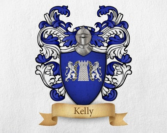 Kelly Family Crest - Print