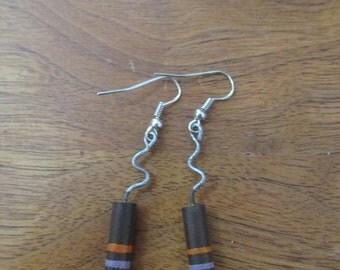Earrings from Vintage Resistors