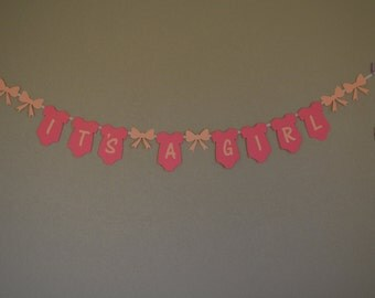 "Baby Shower Banner ""It's A Girl"""