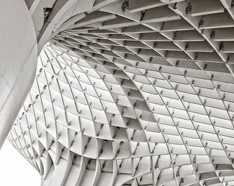 Seville photo, Spain photography, Spain Architecture, urban decor, office decor, abstract art, home decor, black and white photo,modern art,