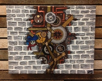 Labyrinth steampunk painting