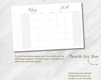 TODAY... 8.5x11 monthly planner page download