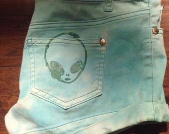 Alien Cotton Candy Tie Dyed Shorts