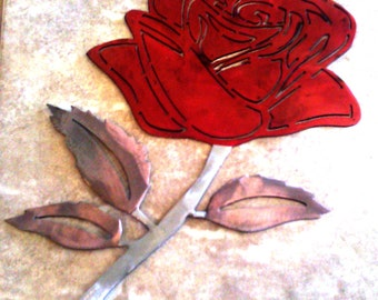Rose DXF file for your CNC plasma, laser, or router