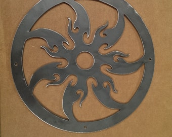 Tribal sun DXF file for your CNC plasma, laser, or router machine