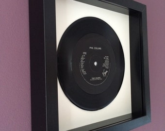 "Phil Collins ""Two Hearts"" - Framed Original Vinyl Gift"