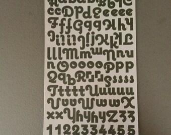Olive Green Letter Sheets