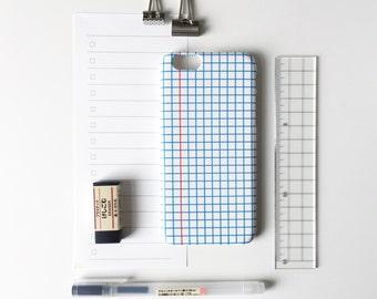Squared Notebook phone case / school phone case / iPhone 7 / iPhone 7 Plus / iPhone Se / iPhone 6s / iPhone 6 / iPhone 5/5S