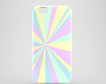 Pastel Flare phone case / pastel geometric case / pastel graphic cover / available for iPhone and Samsung Galaxy S models