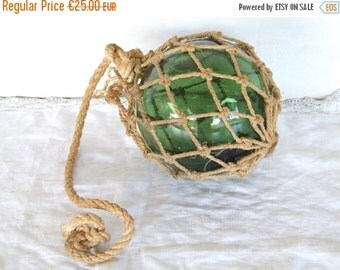 SPRING SALE 15% OFF Vintage Glass Ball Fishing Float.