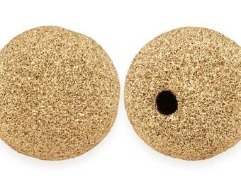 1 Pc 12 mm 14K Gold Filled Stardust Bead (GF520412)