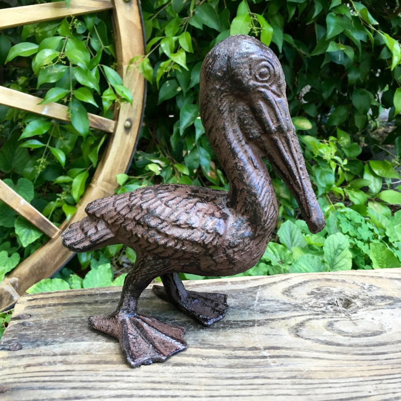 Small Cast Iron Pelican Garden Ornament