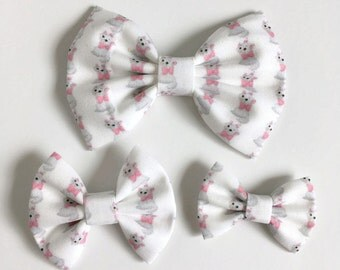 Marie Hair Bow - Aristocats Hair Bow - Fabric Hair Bow - Marie Fabric Bow - Disney Hair Bow - Toddler Hair Bow - Nylon Headband