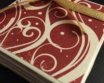 Candy Cane Swirl Coasters