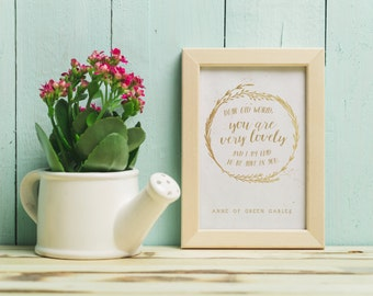 Anne of Green Gables Poster + Card | Very Lovely World