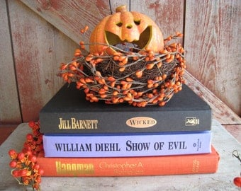 3 Halloween Decorator Books Instant Library Collection Wicked Show of Evil Hangman
