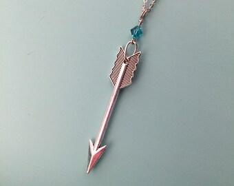 Cupid's Arrow with Swarovski Crystal (L)