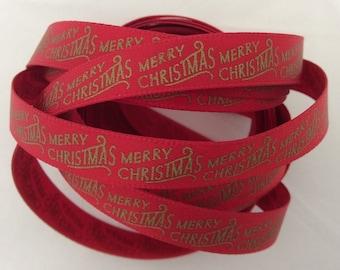 Christmas Ribbon - Red 3 metres
