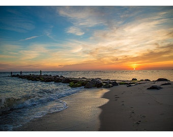 Cape May, NJ - Sunset at St. Peter's Beach - 12x18 Print - Fine Art Photography