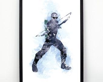 Hawkeye, Hawkeye Alternative print, Watercolor alternative poster, Watercolor Art, Nursery Print, Nursery Wall Art,