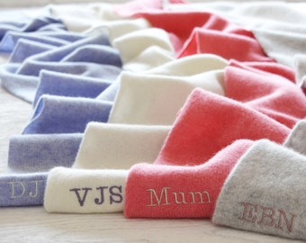 Ladies Personalised Scarf - The perfect gift for her in Super Soft Lambswool