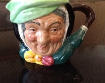 Medium size Royal Doulton Toby Mug, Sairey Gamp, royal doultonToby mug in porcelain. Royal Doulton Toby mugs, collectors item!