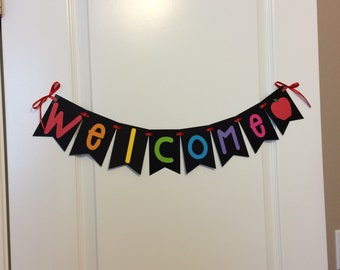 Welcome banner, school banner, welcome sign