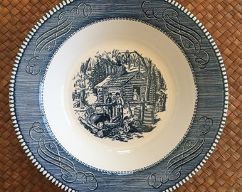 Currier and Ives maple sugaring vegetable bowl
